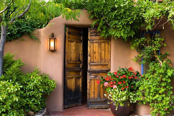 Classic Santa Fe Exterior Entrance