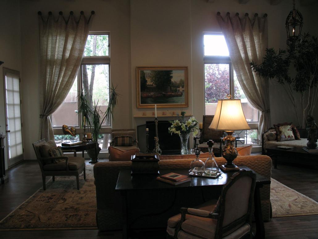 European Eclectic Interior Design - Elegant Living Room